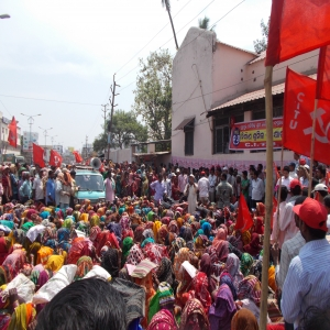 Construction workers demonstration - Brahmapur - 3