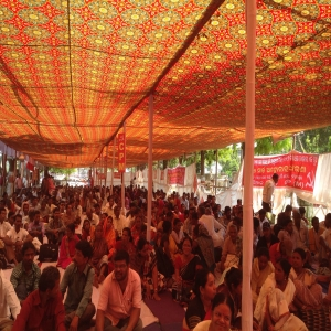 Dharna against Land acquisition bill - 3