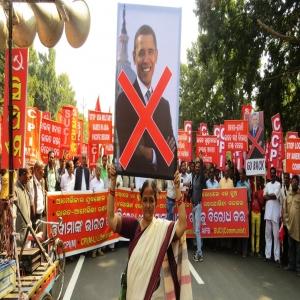 Against Obama visit - 2
